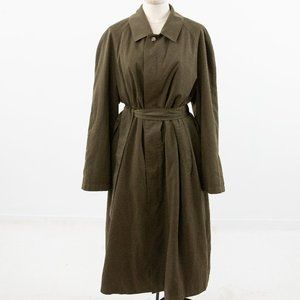 Nordstrom M Convertible Trench Coat Green Brown
